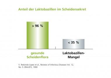 Laktobazillen im Scheidensekret